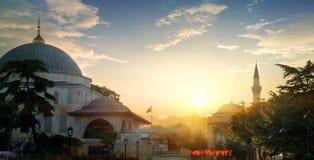 Moschea al tramonto Immagine Stock Libera da Diritti