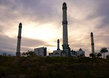 Moschea all'altopiano di Riau fotografia stock libera da diritti