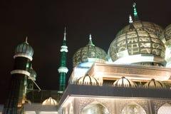 Moschea alla notte Fotografie Stock Libere da Diritti