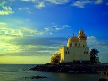 Moschea alla riva di Mar Rosso 1 Immagini Stock