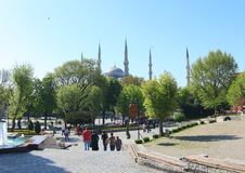 Moschea blu, Costantinopoli Immagine Stock