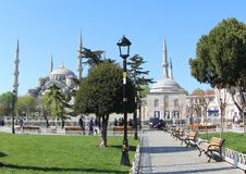 Moschea blu, Costantinopoli Immagini Stock