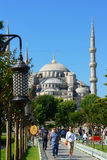 Moschea blu a Costantinopoli, Turchia Immagine Stock