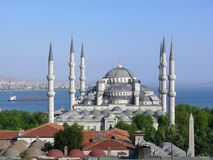 Moschea blu, Costantinopoli, Turchia Fotografia Stock
