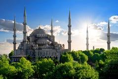 Moschea blu famosa Fotografie Stock