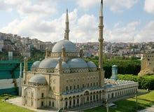 Moschea blu miniatura a Costantinopoli Fotografia Stock Libera da Diritti