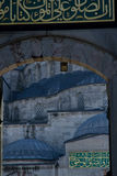 Moschea blu - vista alta vicina dell'entrata Immagine Stock