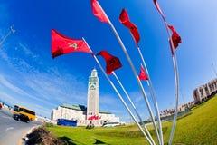Moschea Casablanca del Hassan II Fotografia Stock Libera da Diritti