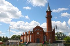 Moschea in città Lyambir vicino a Saransk Repubblica della Mordovia Federazione Russa Immagine Stock Libera da Diritti