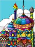 Moschea Colourful per il festival islamico royalty illustrazione gratis