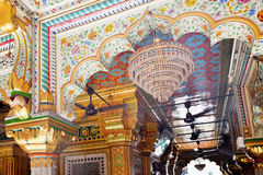 Moschea complessa Nuova Delhi India di Nizamuddin fotografia stock libera da diritti