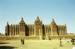 Moschea del fango, Djenne, Mali Immagine Stock Libera da Diritti