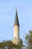 Moschea del minareto a Costantinopoli Fotografia Stock Libera da Diritti