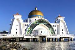 Moschea del selat di Masjid nel Malacca Malesia Fotografia Stock Libera da Diritti
