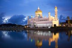 Moschea dell'Omar Ali Saifuddien del sultano, Brunei fotografia stock