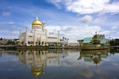 Moschea dell'Omar Ali Saifuddien del sultano, Brunei Fotografia Stock Libera da Diritti