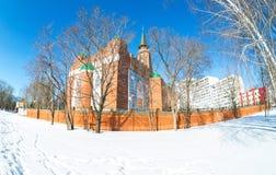 Moschea della cattedrale nel giorno soleggiato di inverno in samara, Russia Fotografie Stock Libere da Diritti