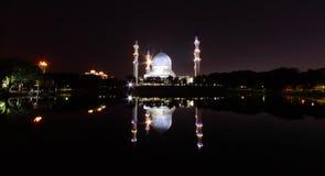 Moschea della città di Shah Alam Fotografia Stock