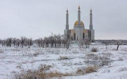 Moschea della neve Fotografia Stock