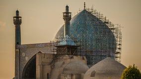 Moschea dello scià ad alba Fotografia Stock