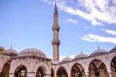 Moschea di Ahmed del sultano nel tacchino di Costantinopoli fotografie stock libere da diritti