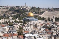 Moschea di Al-Aqsa, vecchia città Gerusalemme fotografie stock
