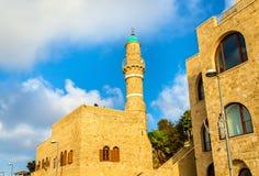 Moschea di Al-Bahr in telefono Aviv-Giaffa - Israele Fotografia Stock Libera da Diritti