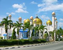 Moschea di Al-Hana, Langkawi, Malesia Fotografie Stock