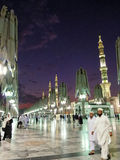 Moschea di Al-Nabawi o del profeta di Al-Masjid Immagine Stock