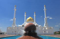 Moschea di Astana. fotografia stock libera da diritti