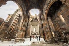 Moschea di Carhedral Fethiye nella città antica degli ani, Kars, Turchia fotografia stock libera da diritti
