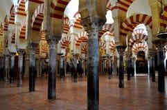 Moschea di Cordova (mesquita) all'interno Fotografia Stock