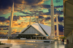 Moschea di Faisal Immagini Stock Libere da Diritti