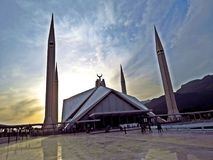 Moschea di Faisal, Islamabad, Pakistan fotografia stock