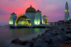 Moschea di galleggiamento Immagine Stock Libera da Diritti