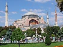 Moschea di Hagia Sofia a Costantinopoli in Turchia fotografie stock