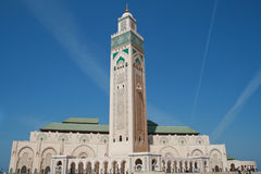 Moschea di Hassan nel maroc Fotografia Stock Libera da Diritti
