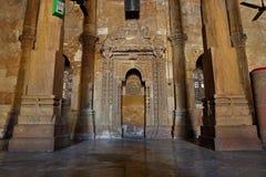 Moschea di Jama Masijd in Makaraba, Ahmedabad fotografie stock libere da diritti