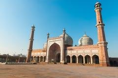Moschea di Jama Masjid, vecchio Dehli, India Fotografia Stock Libera da Diritti
