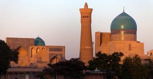 Moschea di Kalon e minareto - Buchara - l'Uzbekistan Immagine Stock Libera da Diritti