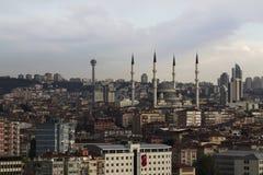 Moschea di Kocatepe a Ankara Fotografie Stock Libere da Diritti