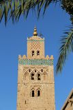 Moschea di Koutoubia, la maggior parte del simbolo famoso della città di Marrakesh, Marocco. fotografia stock libera da diritti