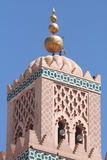 Moschea di Koutoubia - parte superiore Fotografia Stock