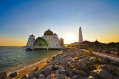 Moschea di Melaka Fotografia Stock Libera da Diritti