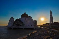 Moschea di Melaka Fotografie Stock