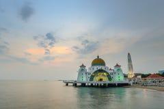 Moschea di Melaka Fotografia Stock