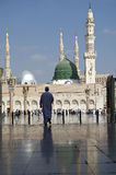 Moschea di Nabawi, Medina, Arabia Saudita Fotografia Stock