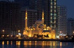 Moschea di Noor di Al in Sharjah Fotografia Stock Libera da Diritti