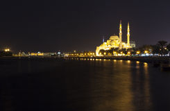 Moschea di Noor di Al Sharjah Gli Emirati Arabi Uniti immagini stock libere da diritti