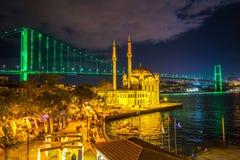 Moschea di Ortakoy, Costantinopoli, Turchia Immagini Stock Libere da Diritti